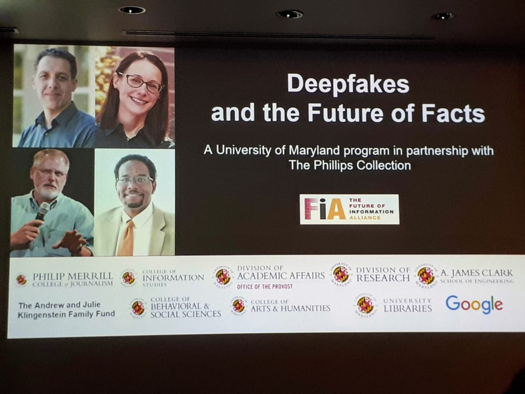 Deepfake and the Future of Facts -tapahtuman mainoskuva.